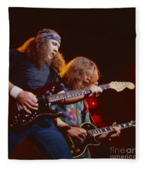 The Outlaws - Hughie Thomasson And Billy Jones Fleece Blanket