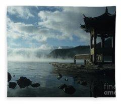 The Pagoda Lugu Lake China Fleece Blanket