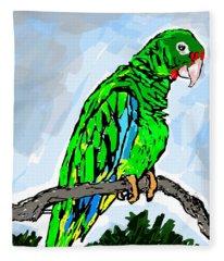 The Parrot Fleece Blanket