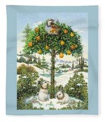 The Partridge In A Pear Tree Fleece Blanket