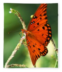The Passion Butterfly Fleece Blanket