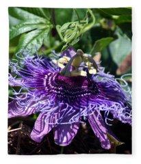 The Passion Flower Fleece Blanket