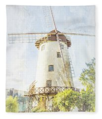 The Penny Royal Windmill Fleece Blanket