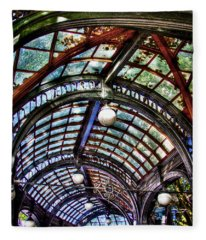The Pergola Ceiling In Pioneer Square Fleece Blanket