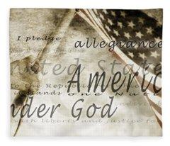 The Pledge Of Allegiance And An Fleece Blanket