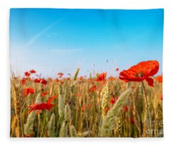Summer Poetry Fleece Blanket