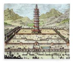 The Porcelain Tower Of Nanking, Plate Fleece Blanket