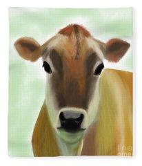 The Pretty Jersey Cow  Fleece Blanket