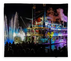 The Mark Twain Disneyland Steamboat  Fleece Blanket