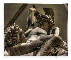 The Rape Of Polyxena Fleece Blanket