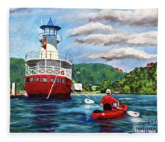 Out Kayaking Fleece Blanket