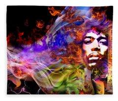 The Return Of Jimi Hendrix Fleece Blanket