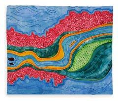 The Riffles Original Painting Fleece Blanket