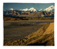 The Road Up To Polychome Pass, Denali Fleece Blanket