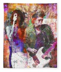 Rock N Roll The Rolling Stones Fleece Blankets