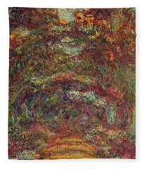 The Rose Path, Giverny, 1920-22 Oil On Canvas Fleece Blanket