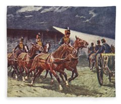 The Royal Horse Artillery Drive Fleece Blanket