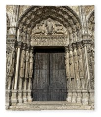 The Royal Portal At Chartres Fleece Blanket