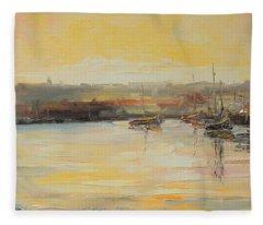 The Scarborough Harbour Fleece Blanket