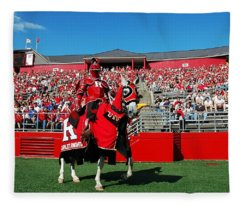 The Scarlet Knight And His Noble Steed Fleece Blanket