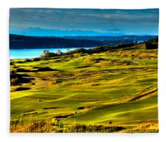 The Scenic Chambers Bay Golf Course - Location Of The 2015 U.s. Open Tournament Fleece Blanket