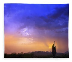 The Scent Of Rain Fleece Blanket