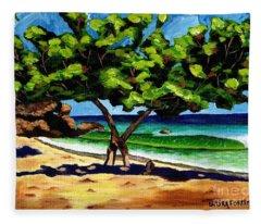 The Sea-grape Tree Fleece Blanket