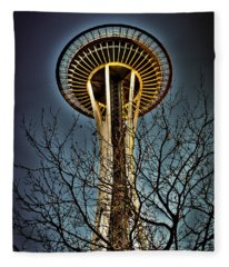 The Seattle Space Needle Iv Fleece Blanket