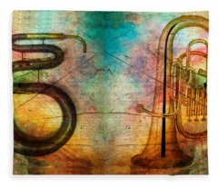 The Serpent And Euphonium -  Featured In Spectacular Artworks Fleece Blanket