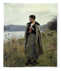 The Shepherdess Of Rolleboise Fleece Blanket