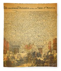 The Signing Of The United States Declaration Of Independence Fleece Blanket