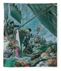 The Sinking Of The Titanic Fleece Blanket