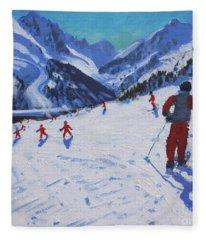 The Ski Instructor Fleece Blanket
