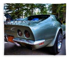 The Sleek 1972 Corvette Stingray Fleece Blanket