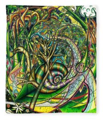 Fleece Blanket featuring the painting The Snail by Shawn Dall
