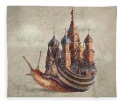 The Snail's Daydream Fleece Blanket