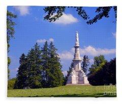 The Soldiers Monument Fleece Blanket