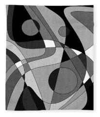 The Soloist - Black And White Fleece Blanket
