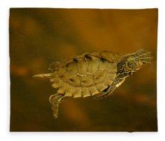 The Southeastern Map Turtle Fleece Blanket
