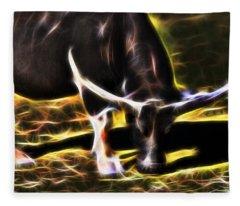 The Sparks Of Water Buffalo Fleece Blanket