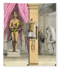 The Stables Of Caligulas Horse Fleece Blanket