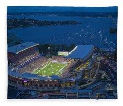 Husky Stadium And The Lake Fleece Blanket