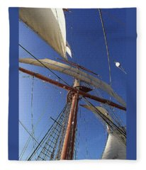 The Star Of India. Mast And Sails Fleece Blanket