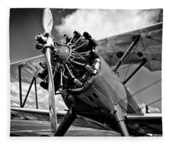The Stearman Biplane Fleece Blanket