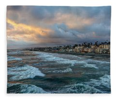 The Storm Clouds Roll In Fleece Blanket