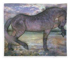 The Sunrise Horse Fleece Blanket