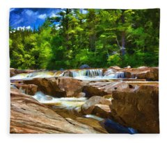 The Swift River Beside The Kancamagus Scenic Byway In New Hampshire Fleece Blanket
