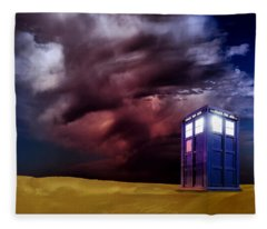 The Tardis Fleece Blanket