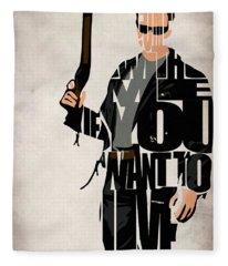 The Terminator - Arnold Schwarzenegger Fleece Blanket