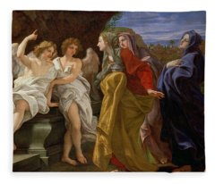 The Three Marys At The Sepulchre Fleece Blanket